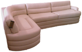 rv furniture, marine furniture, yacht furniture, marine sectional, boat furniture, custom marine sofa