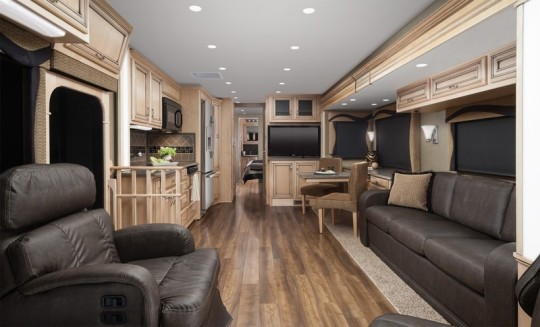 Our Ultraleather RV Furniture U0026 Flooring Upgraded This Interior!