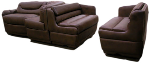 rv custom sofa, rv custom dinette, motorhome custom sofa, mortorhome custom dinette