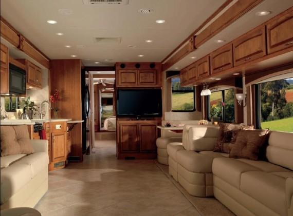 Custom RV Furniture, custom motorhome furniture, motorhome dinette, motorhome sofa, rv dinette, rv sofa