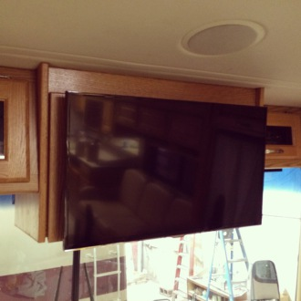 rv tv upgrade, rv television renovation, motorhome renovation, motorhome tv upgrade