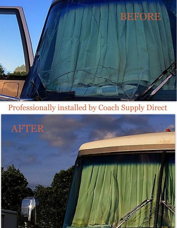 rv renovation, rv service, motorhome renovation, motorhome service, rv glass replacement, rv windshield replacement, motorhome windshield replacement