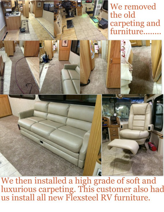 rv flooring, motorhome flooring, rv renovation, motorhome renovation, rv remodeling, motorhome remodeling